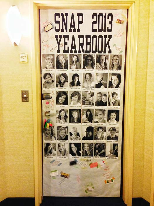 SNAP Conference 2013 door decorating yearbook